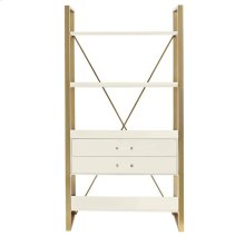 Oasis-Harwell Bookcase in Saltbox White