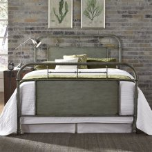 Queen Metal Bed - Green