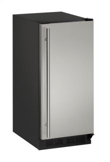 """1000 Series 15"""" Clear Ice Machine With Stainless Solid Finish and Field Reversible Door Swing (115 Volts / 60 Hz)"""