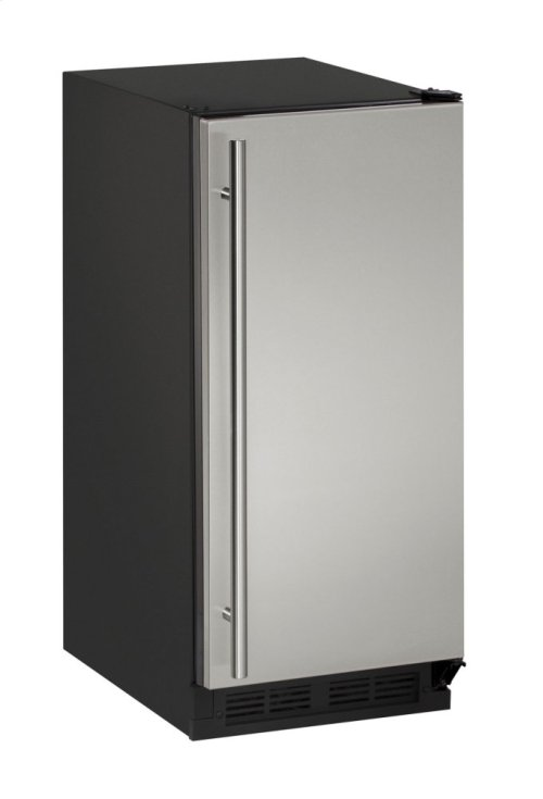 "1000 Series 15"" Clear Ice Machine With Stainless Solid Finish and Field Reversible Door Swing (115 Volts / 60 Hz)"
