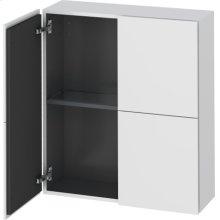 Semi-tall Cabinet, White Matt