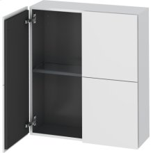 Semi-tall Cabinet, White Matt