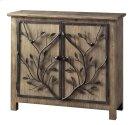 Windcrest Rustic Wood and Metal Tree 2 Door Cabinet Product Image