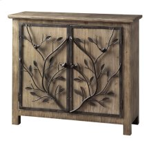 Windcrest Rustic Wood and Metal Tree 2 Door Cabinet