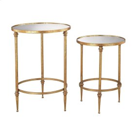 Alcazar Accent Tables In Antique Gold And Mirror