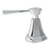Satin Nickel Perrin & Rowe Deco 5-Hole Bidet Faucet With Deco Metal Lever