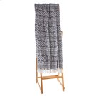 Navy Blue & White Diamond Tribal Throw. Product Image