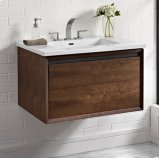 """m4 30"""" Wall Mount Vanity - Natural Walnut Product Image"""