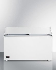 """62"""" Wide Dipping Cabinet With Polycarbonate Sneezeguard and Digital Thermostat"""