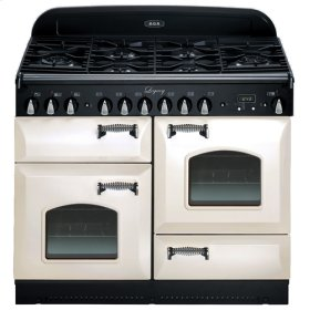 """Ivory with CathedralDoors AGA Legacy 44"""" Dual-Fuel Range"""