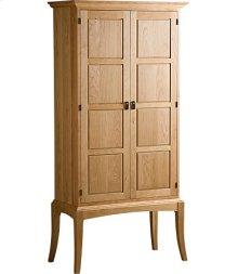 Sabin Bookcase w/ Wood Paneled Doors