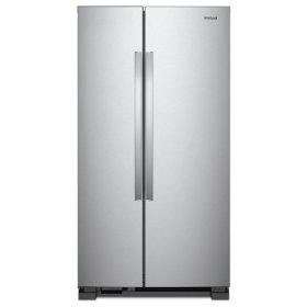 Whirlpool® 33-inch Wide Side-by-Side Refrigerator - 22 cu. ft. - Monochromatic Stainless Steel