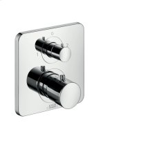 Stainless Steel Optic Thermostat for concealed installation with shut-off/ diverter valve