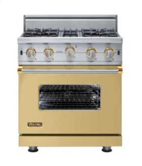 "30"" Custom Open Burner Range, Propane Gas, Brass Accent"