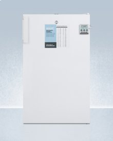 "20"" Wide Built-in Undercounter All-refrigerator, Auto Defrost With an Internal Fan, Nist Calibrated Thermometer, and Lock"