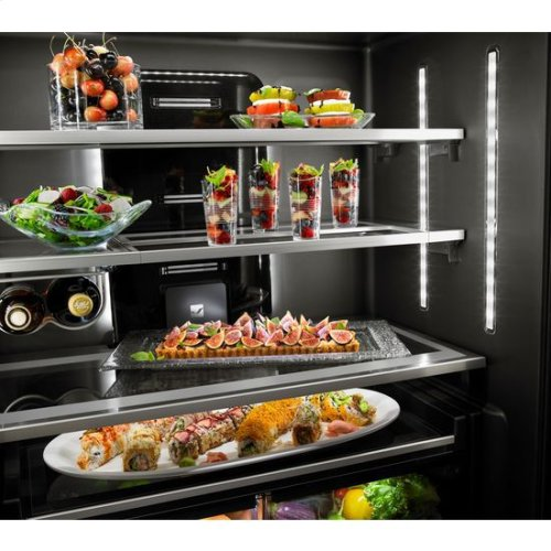 """Euro-Style 72"""" Counter-Depth French Door Refrigerator with Obsidian Interior"""