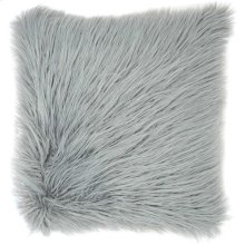 "Faux Fur Bj101 Light Grey 17"" X 17"" Throw Pillows"