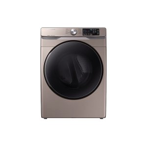 SamsungDV6100 7.5 cu. ft. Electric Dryer with Steam Sanitize+ in Champagne