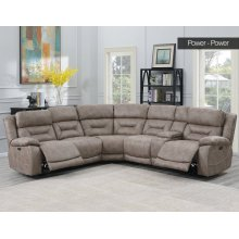 Aria LAF LS,DesertSand,1 Pwr -Pwr Recliner 62x44x42.5