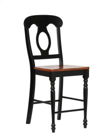 Sunset Trading Napoleon Barstool in Antique Black with Cherry Finish Seats