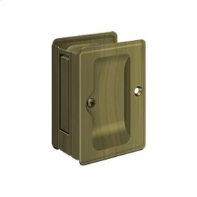 "HD Pocket Lock, Adjustable, 3 1/4""x 2 1/4"" Passage - Antique Brass"