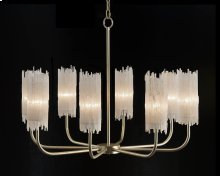 Natural Selenite Eight-Light Chandelier