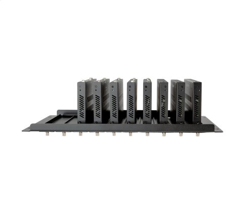 "Strong Vertical MoIP Shelf - 10 Transmitters - 19.0"" x 10.5"" x 1.5"" (without TX) 5.2"" (with TX installed)"
