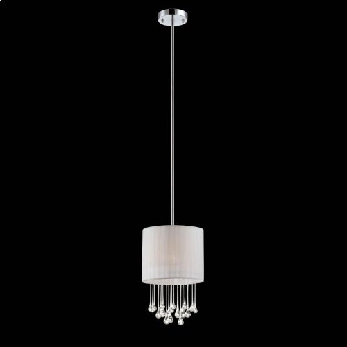 1-LIGHT PENDANT - Chrome
