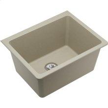 "Elkay Quartz Classic 25"" x 18-1/2"" x 11-13/16"", Undermount Laundry Sink with Perfect Drain, Bisque"