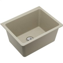 "Elkay Quartz Classic 25"" x 18-1/2"" x 11-13/16"", Undermount Laundry Sink with Perfect Drain, Bisque"