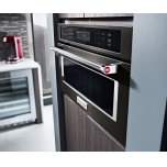 "KitchenAid 30"" Built In Microwave Oven with Convection Cooking - Black Stainless Steel with PrintShield™ Finish"