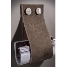 """Garage Magazine Holder W 5 3/4""""x H 12 5/8""""Brown Leather"""