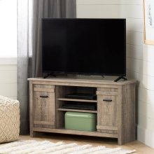 Corner TV Stand, for TVs up to 42'' - Weathered Oak