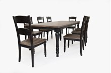 Madison County Ext Table With 8 Chairs - Vintage Black