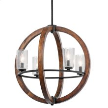 Grand Bank Collection Grand Bank 4 Light Chandelier - Auburn Stained