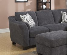 Left Side Facing Loveseat Charcoal