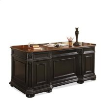 Allegro Executive Desk Burnished Cherry/Rubbed Black finish