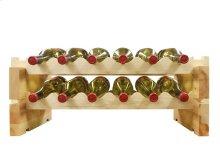 2 x 6 Bottle Modular Wine Rack (Natural)