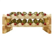 2 x 6 Bottle Modular Wine Rack (Natural)