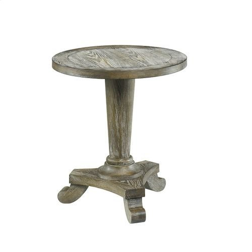 Hidden Treasures Driftwood Round Pedestal Table