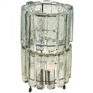 2 Tiered Blown Glass Clear Table Lamp Product Image