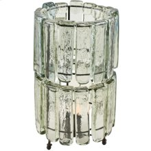 2 Tiered Blown Glass Clear Table Lamp