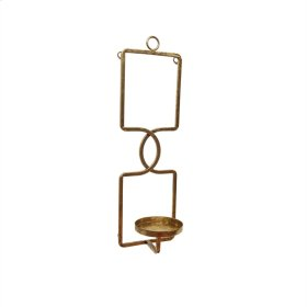 "Metal 17"" Wall Sconce, Gold"