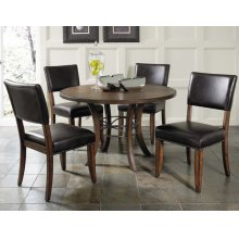 Cameron 5pc Round Wood Dining Set With Parson Chairs