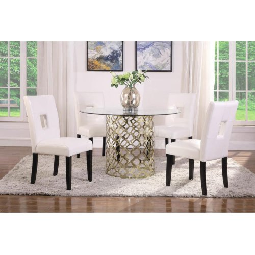 Bradshaw Modern Brushed Gold Dining Table