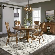 Optional 5 Piece Pedestal Table Set