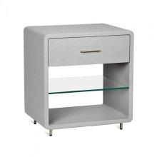 Alma Bedside Chest - Light Grey
