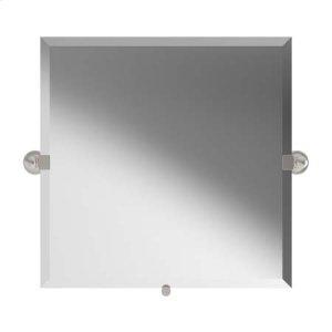 "Satin Nickel 20"" x 20"" Small Frameless Mirror"