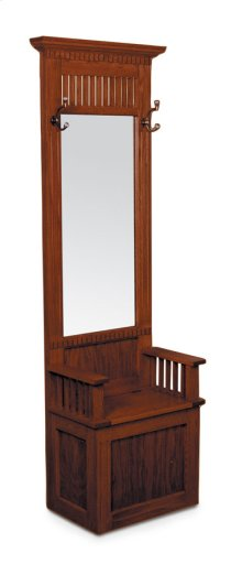 Mission Hall Seat with Beveled Mirror