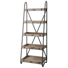 Voyager Metal and Wood Tiered Etagere